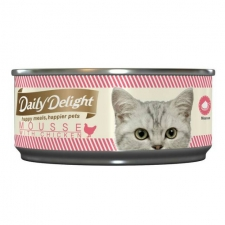 Makanan Basah / Kaleng Kucing Daily Delight Cat Mousse with Chicken 80gr