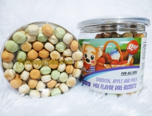 Snack Anjing Orgo Dog Biscuit Fresh Mix ( Chicken,Apple & Milk ) 125gr