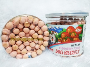 Snack Anjing Orgo Dog Biscuit Fresh Strawberry 125gr