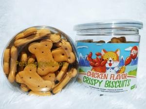 Snack Anjing Orgo Crispy Biscuit Chicken Flavor 180gr