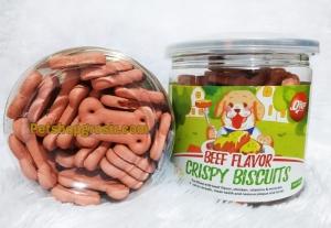 Snack Anjing Orgo Crispy Biscuit Beef Flavor 180gr