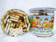 Snack Anjing Orgo Crispy Biscuit Mix ( Milk,Chicken & Cheese ) Flavor 180gr