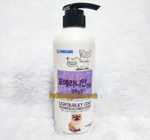 Shampo Anjing Forbis Light & Silky Coat Shampoo & Conditioner 550ml