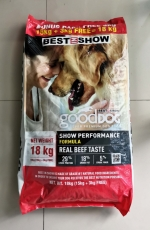 Makanan Anjing Best In Show Good Dog Dry Food Beef Show Performance 18kg