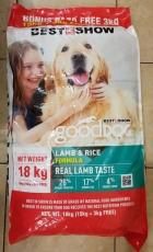 Makanan Anjing Best In Show Good Dog Dry Food Lamb & Rice 18kg