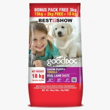 Makanan Anjing Best In Show Good Dog Dry Food Show Puppy 18kg