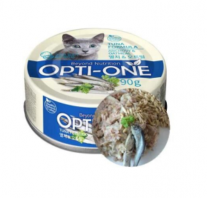 Makanan Basah / Kaleng Kucing Opti-One Cat White Tuna & Anchovy, Oatmeal 90gr