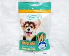 Snack Anjing Yummy Jerky Stick Milk 70gr